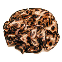 Animal Print Clip Claw Jaw Bows Large Satin Chiffon