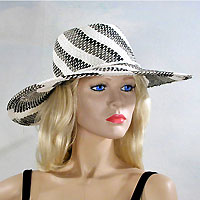 Stripped Sun Hat in a Swirled Design
