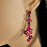 Drop Cluster Earrings