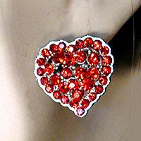 Crystal Rhinestone Heart Earrings