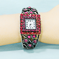 Vintage Look Crystal Rhinestone Watch