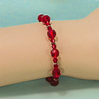 Sparkling Faceted Beaded Bracelet