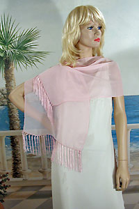 Fringed Scarf or Light Shawl Oblong Shawl