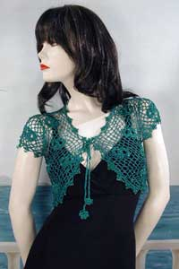Crocheted Bolero Shrug for Casual and Dressy Wear
