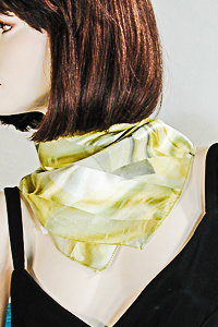 Small Satin Scarf with Abstract Design