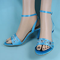 Robbins Egg Blue Jeweled Shoes